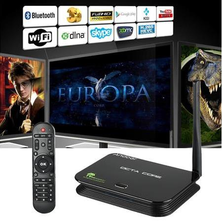 Android 5.1 TV Box 2G/16G WiFi & LAN UHD 4 K * 2 K RK3368 Octa Çekirdekli 64 Bit Mini PC Kodi/XBMC/