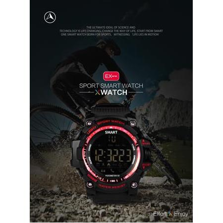 Smart watch ex16 xwatch spor bluetooth 4.0 5atm su geçirmez ip67 smartwatch bileklik kronometre