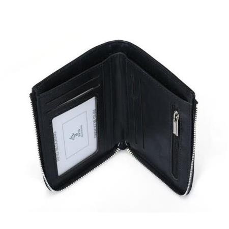 Billfold Kredi Kart Sahibi Vaka Para Pocket Around the Money Çanta Zipper Engelleme Marka Tasarım